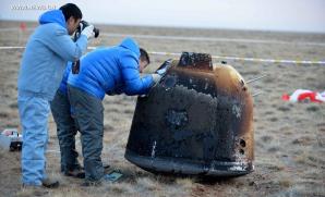 Pokusný čínský modul obletěl Měsíc a vrátil se na Zemi v listopadu 2014 Autor: spaceflightnow.com