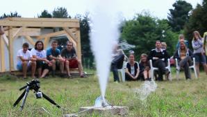 Statický test raketového motoru vytištěného na 3D tiskárně. Autor: Roman Dvořák