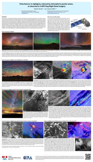 Vědecký poster k fenoménu airglow a jeho pozorování prostřednictvím družice Suomi-NPP. Autor: Martin Setvák a Steven Miller.