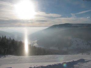 Spodní slunce na ledových krystalech (diamantovém prachu) ve Velké Úpě 26. 12. 2010. Autor: Humlnet