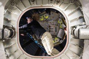 Kathleen Rubins v modulu BEAM. Autor: NASA.
