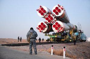 Převoz rakety Sojuz s lodí Progress na startovní rampu 29. listopadu 2016 Autor: spaceflightnow.com