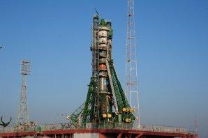 Raketa Sojuz s lodí Progress na startovní rampě 29. listopadu 2016 Autor: spaceflightnow.com