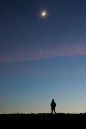 Konjunkce Měsíce a Venuše Autor: Oliver Beneš