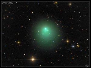 Enckeova kometa v roce 2013. Autor: Damian Peach.