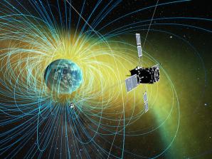 Vizualizace sondy ERG na oběžné dráze, zkoumající Van Allenovy radiační pásy. Autor: spaceflightnow.com