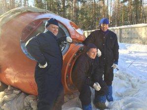 Výcvik v přežití po zimním přistání v nepřístupném terénu (únor 2017). Autor: Twitter A. Feustela.