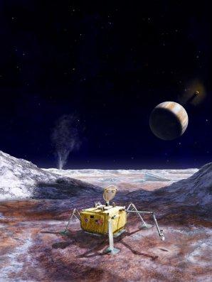 Návrh přistávacího modulu Europa Lander Autor: NASA/JPL-Caltech