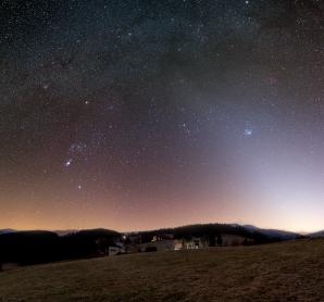 Zodiakální světlo z Beskyd Autor: Jiří Hlisnikovský