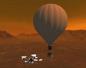 Sestava balónu a létajícího dronu k výzkumu Titanu Autor: NASA/STMD