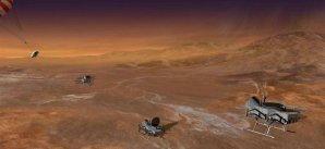Umělecká představa flotily dronů k výzkumu Titanu Autor: APL/Michael Carroll