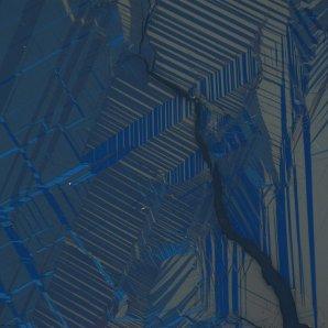 Feroelektrické domény v NdMnO(3) pořízené mikroskopem Zeiss Axio Imager v polarizovaném světle. Autor: Fyzikální ústav AV ČR