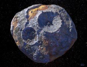 Umělecká představa vzhledu planetky Psyche Autor: NASA