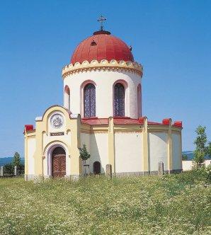 Pohřební kaple sv. Terezie rodu Mendsdorf-Pouilly v Nečtinech Autor: Západočeská pobočka ČAS