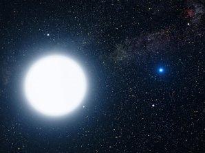 Dvojhvězda Sírius (bílý superobr a bílý trpaslík) Autor: NASA, ESA and G. Bacon (STScI)