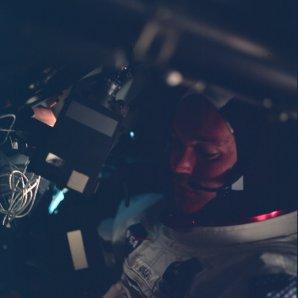 Michael Collins během letu Apolla 11 Autor: Apollo Lunar Surface Journal