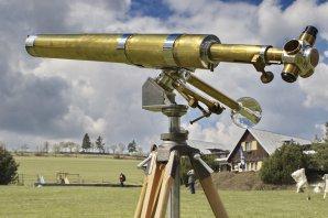 """Krásný mosazný anglický dalekohled 3.5"""" BROADHURST, CLARKSON & CO. z počátku 20. století Autor: Zbyšek Prágr"""