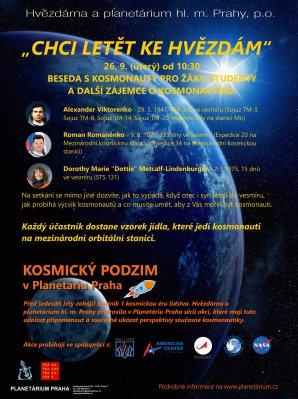 Beseda s kosmonauty Autor: Hvězdárna a planetárium Praha