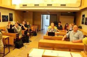 Účastníci praktika s napětím očekávají další přednášku Autor: Jiří Liška