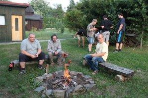Poslední večeře páně astronomů před odjezdem do svých domovů. Autor: Jiří Liška