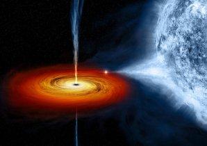 Umělecké ztvárnění pulzaru vysávajícího hmotu svého průvodce Autor: NASA