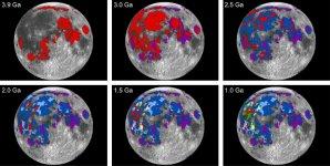 Postupné ukládání lávových bazaltů na povrchu Měsíce Autor: Debra Needham