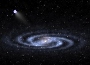 Umělecká představa hyper-rychlé hvězdy Autor: Ben Bromley, University of Utah