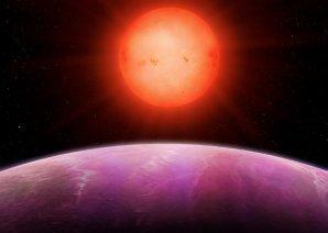 Umělecká představa exoplanety NGTS-1b u chladného červeného trpaslíka Autor: University of Warwick/Mark Garlick