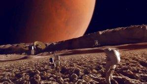 Umělecká představa astronautů na měsíci Phobos Autor: NASA