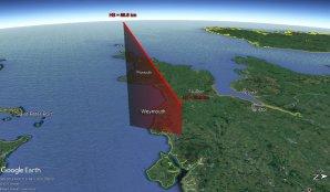 Obr. 8: 3D projekce dráhy bolidu 20171124_235955 v atmosféře Země Autor: Jakub Koukal