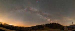 Panorama s Mléčnou dráhou od stanice lanovky Autor: Bartosz Wojczyński