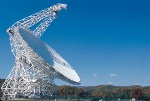 Radioteleskop GBT s anténou o průměru 100 metrů Autor: NRAO/AUI/NSF
