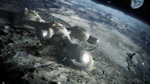 Návrh základny na povrchu Měsíce Autor: ESA/Foster + Partners