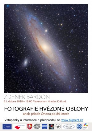 Plakat v prednasce Zdenka Bardona 21. dubna 2018 Autor: Zdeněk Bardon