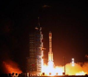 Start modulu Tiangong 1 dne 29. září 2011 z kosmodromu Jiuquan v Číně Autor: Spaceflight101.com