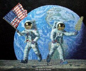 """""""Duch Apolla"""" - jeden z obrazů od Alana Beana Autor: Osobní web A. Beana"""