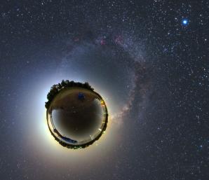 Malá planeta Seč za slunovratové noci. Autor: Petr Horálek.