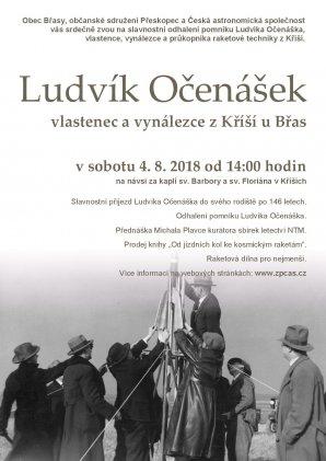 Pozvánka na slavnost Ludvíka Očenáška Autor: Josef Jíra