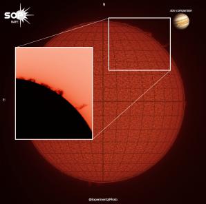 Protuberance z 30.07./18 Autor: Sun observatory Pardubice