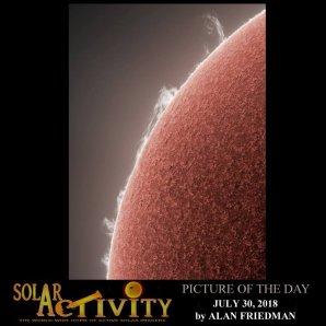 Snímek pro změnu ze zahraničí, který zároveň vyhrál titul snímku dne sluneční aktivity. Autor: Alan Friedman
