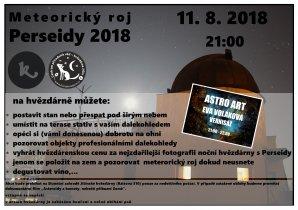 Perseidy 2018 Autor: Centrum přírodních věd - Hvězdárna Jičín.