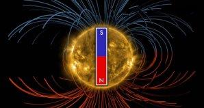 Sluneční magnetické pole mění svoji polaritu přibližně jednou za 11 let Autor: NASA