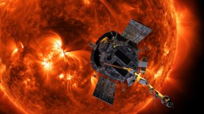 Sonda Parker Solar Probe na pozadí bouřícího Slunce Autor: NASA