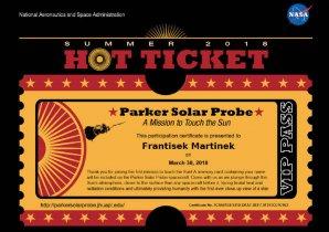 Virtuální letenka se jménem na palubě sondy Parker Solar Probe Autor: NASA