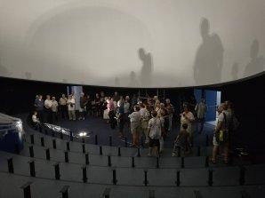 Budova planetária v Brně během rekonstrukce