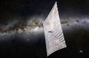 Umělecká představa solární plachetnice Autor: Planetary Society