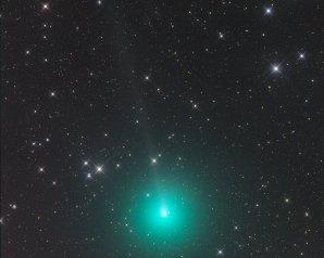 Kometa 46P/Wirtanen zachycená 9. listopadu 2018 z namibské astrofarmy Tivoli Autor: Gerald Rhemann