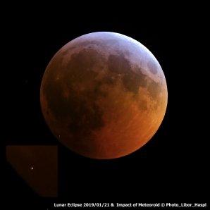 Dopad meteoroidu a zatmění Měsíce 2019/01 Autor: Libor Hašpl