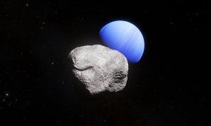 Umělecké ztvárnění měsíce planety Neptun s názvem Hippocamp Autor: ESA/Hubble, NASA, L. Calçada