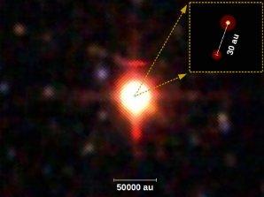 Binární soustava mladých hmotných hvězd PDS 27 Autor: Evgenia Koumpia, University of Leeds